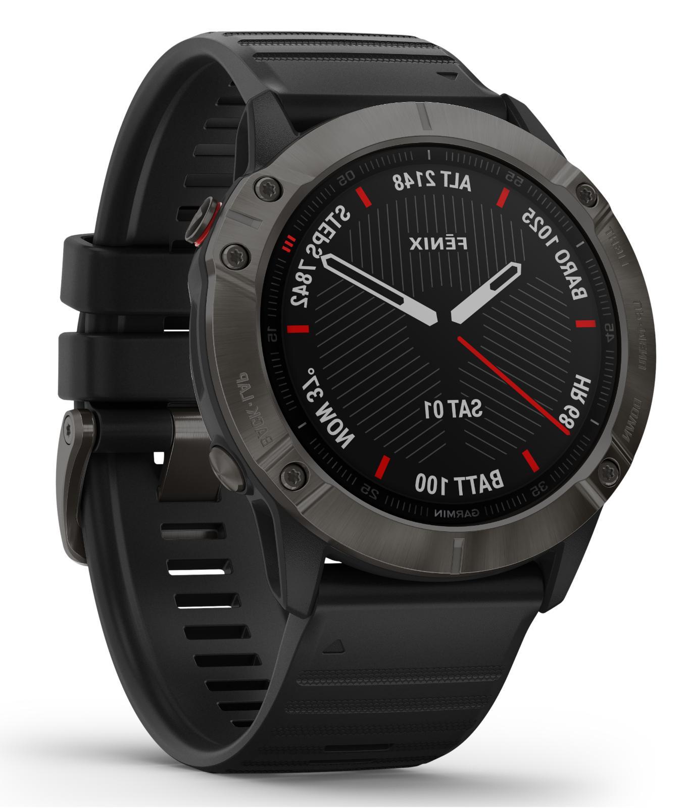 fenix 6x gps multisport watch sapphire carbon