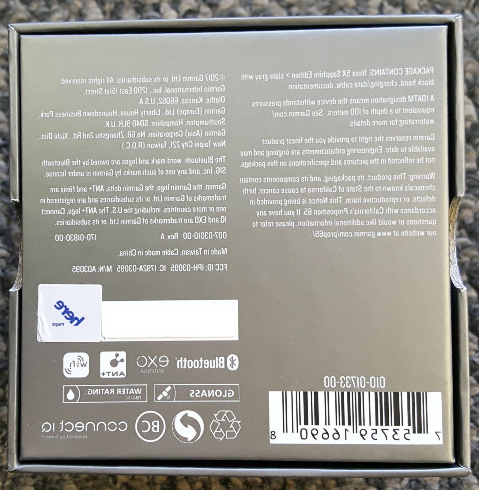 Garmin Fenix 5X Sapphire Multisport Monitor Watch