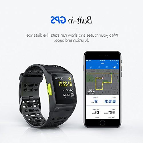 GPS Running Watch,S8 Watch Analysis Rate/Sleeping/Fatigue Waterproof Fitness Tracker Mode Color Touch Screen and