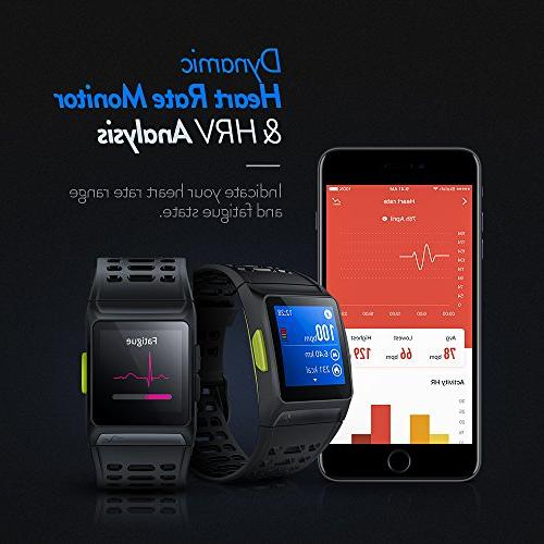 GPS Running Watch HRV Fitness with Multi-Sports Mode Message Touch and
