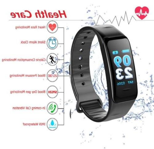 Fitness Tracker Rate Monitor Watch Screen IP68 GPS