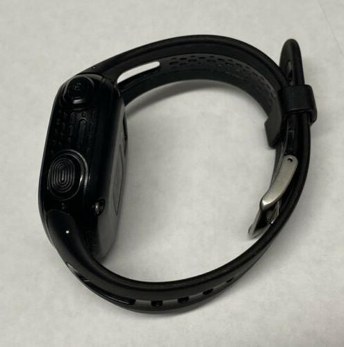 Garmin 15 Running Watch Black Blue Large Case Works Great!