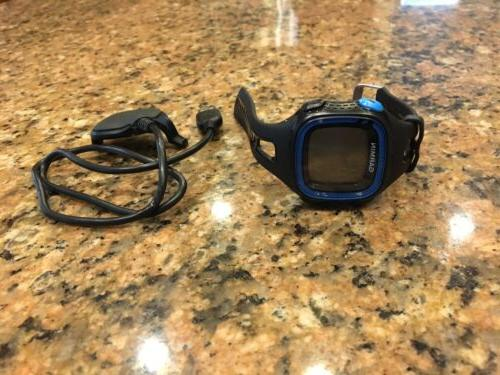 forerunner 15 watch large black blue
