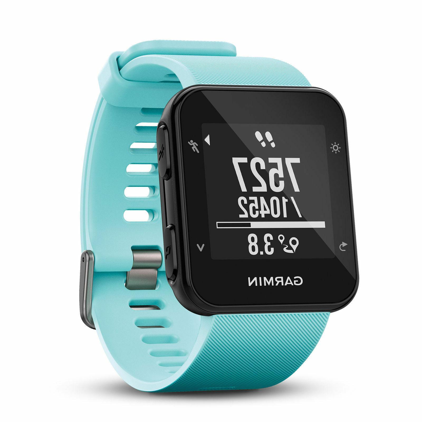 forerunner 35 gps running watch frost blue