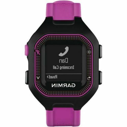 garmim 25 gps running watch rechargeable battery