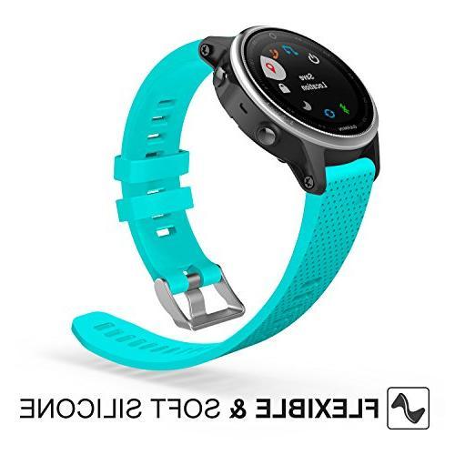 """MoKo Garmin Fenix Watch Band, Replacement Band for Plus, 5S 42mm GPS Watch, 5.31""""-8.46"""","""