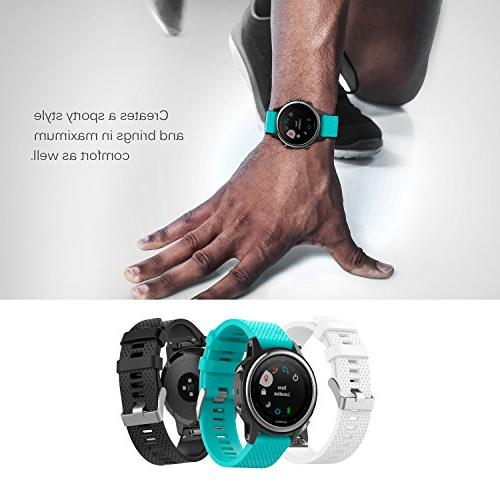 "MoKo Garmin Fenix Watch Band, Replacement Strap for Plus, Multisport GPS Smart 5.31""-8.46"", , Gem"