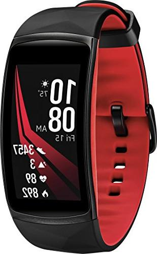 gear fit2 pro fitness smartwatch small red