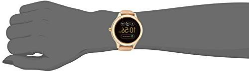 Fossil 3 Venture' Steel Leather Smart Watch, Color:Beige
