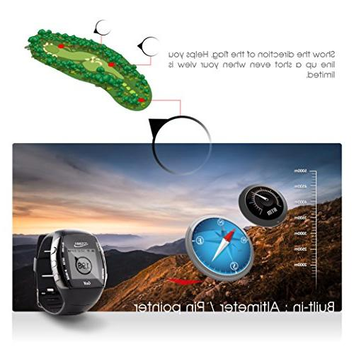 GPS Watch Range Finder - Activity Tracker Built-in Light Rate iOS to Smartphone iPhone