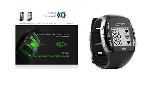 POSMA GPS Watch Built-in Green Heart Rate Monitor, Bluetooth Android iOS app to Connect Smartphone