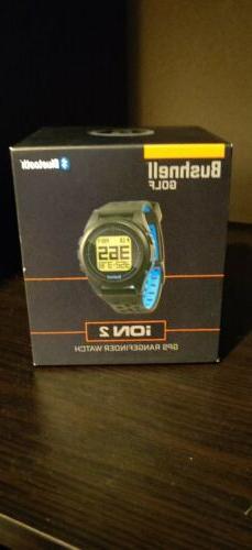 Bushnell Golf Ion 2 GPS Rangefinder Watch Black/Blue  New Op