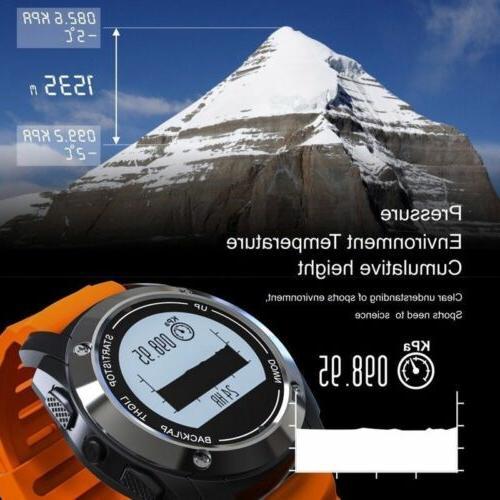 GPS Running Smart Watch With Heart Waterproof Outdoor