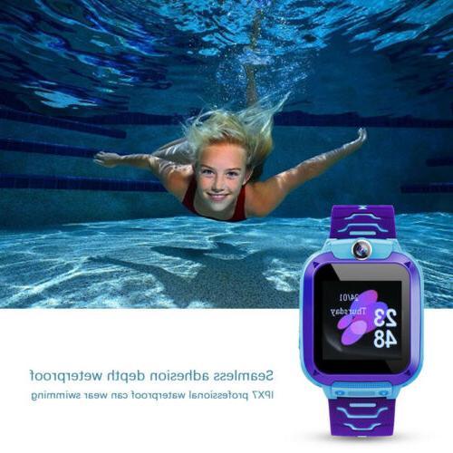 GPS Watch Kid Children Waterproof Locator SOS Phone