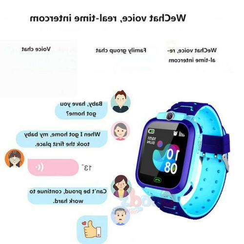 GPS Smart Watch Kid Waterproof Locator Phone Call