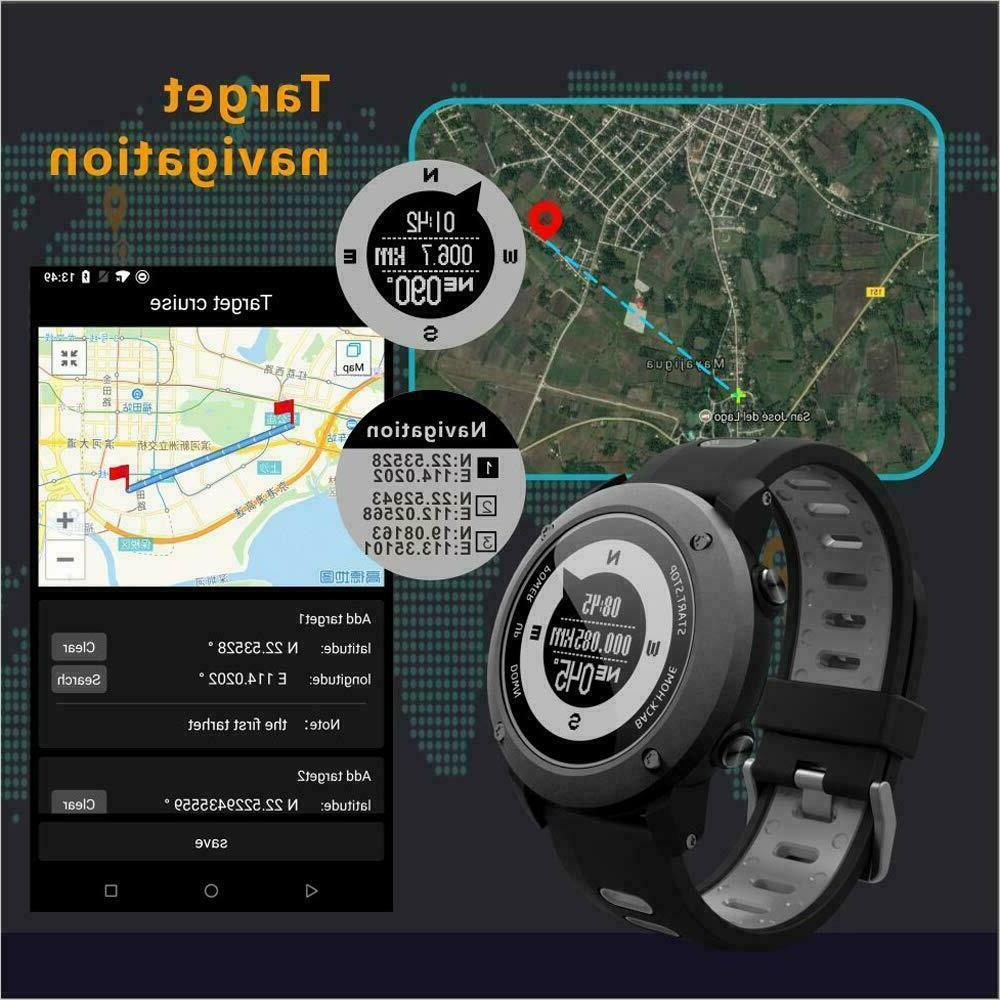 SoonCat GPS Watch for Men All Black Military Men's Outdoo...