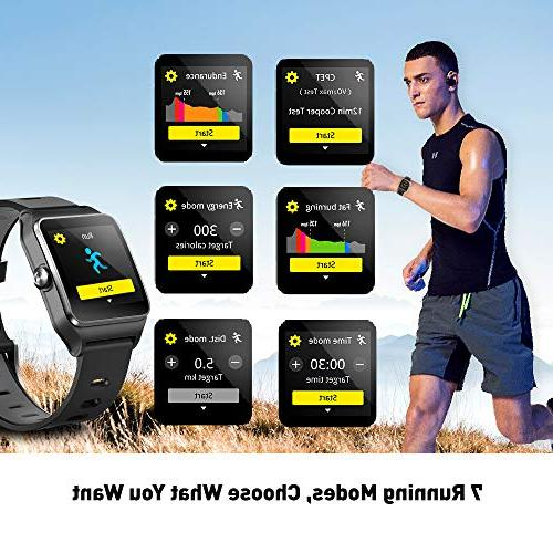 DR.VIVA GPS Men Activity Tracker GPS Running Screen Watch Rate/Sleep/Step/Counter Waterproof GPS Fitness Watch