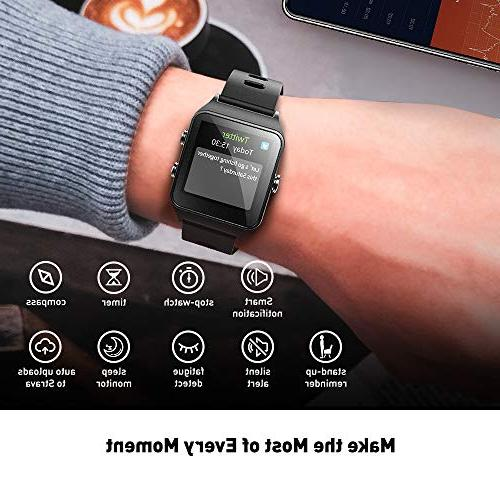 DR.VIVA for Men Women, Tracker GPS Watch Screen Sports Watch Heart Rate/Sleep/Step/Counter Monitor Waterproof GPS Fitness