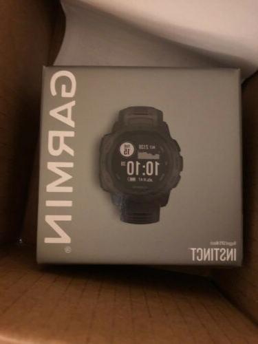 instinct rugged gps smart watch graphite