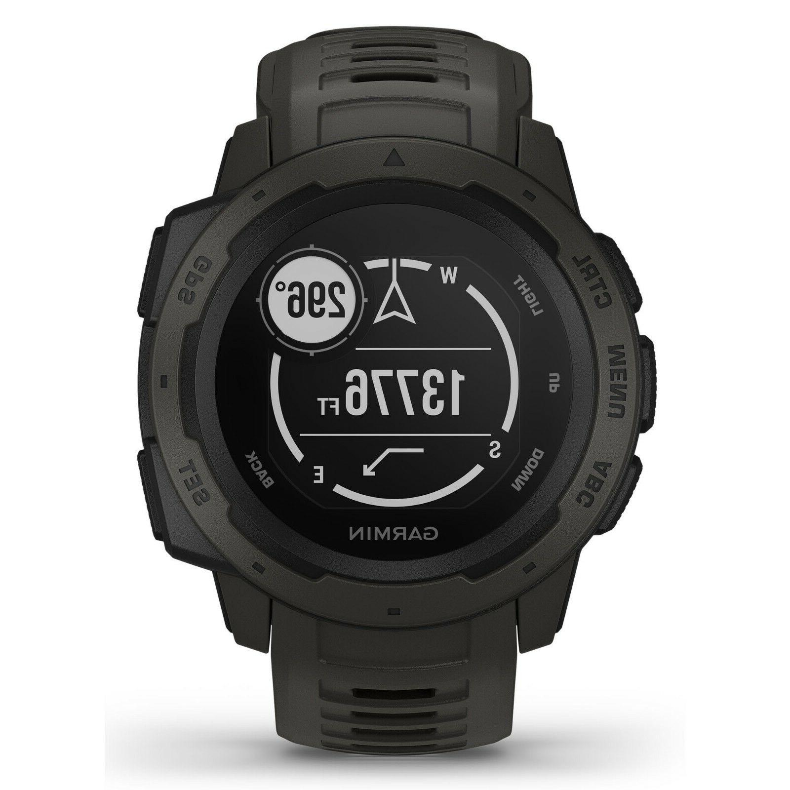 Garmin Instinct Rugged GPS Watch Wrist HRM