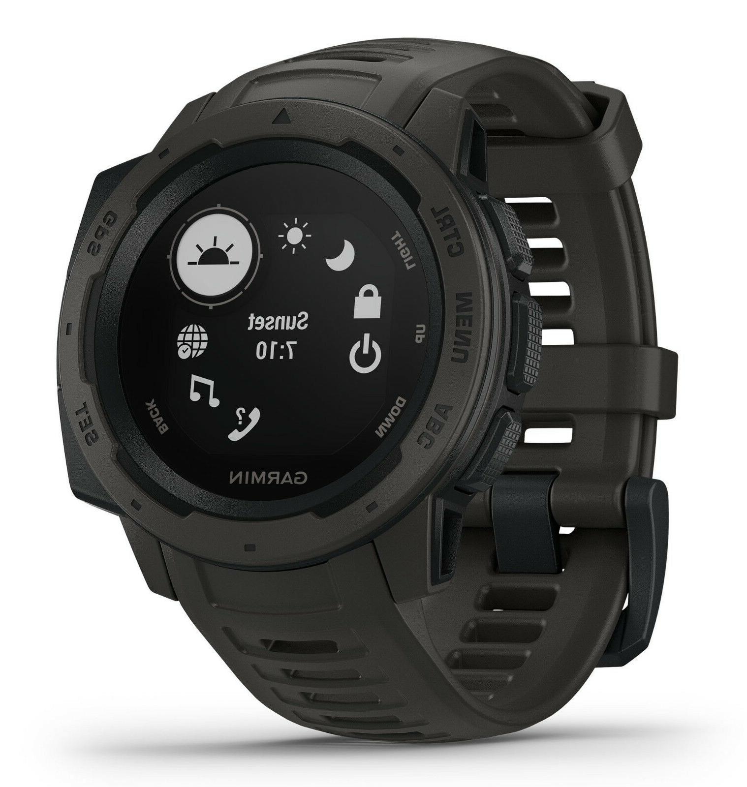 Garmin Instinct Rugged Outdoor GPS Graphite HRM