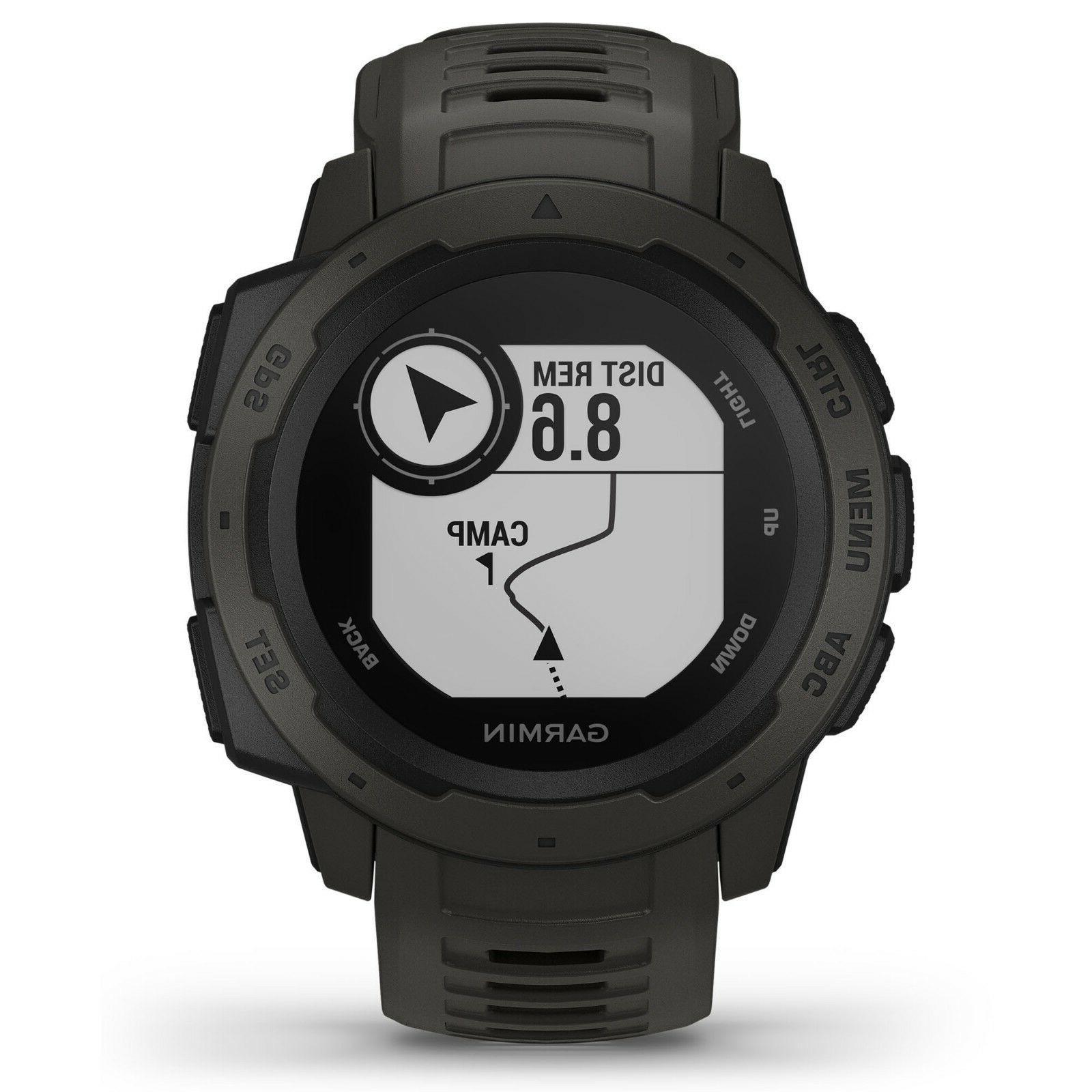 Garmin Instinct GPS Watch Graphite HRM GLONASS