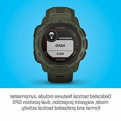 Garmin Instinct Solar Solar-Powered Rugged Smartwatch with