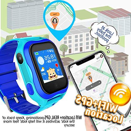 Kid Smart Phone GPS Tracker Accurate Locator IP68 Safety Smartwatch Holiday for Year Girl Smart Wristwatch Camera Anti-Lost