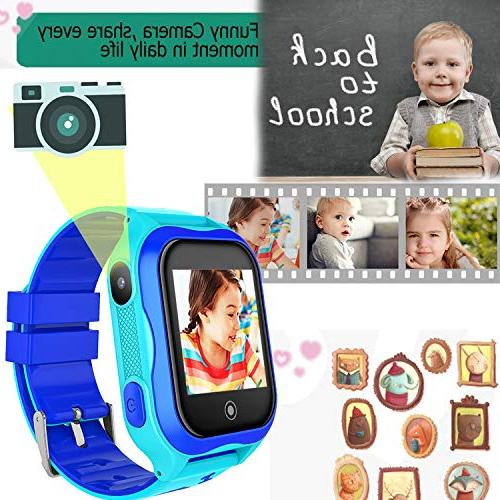 Kid Watch Phone GPS Tracker Accurate WiFi Smartwatch Holiday Year Boy Game Smart SOS Anti-Lost