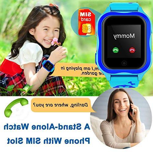 Kid Watch GPS Locator IP68 Waterproof Smartwatch for Year Girl Smart Anti-Lost