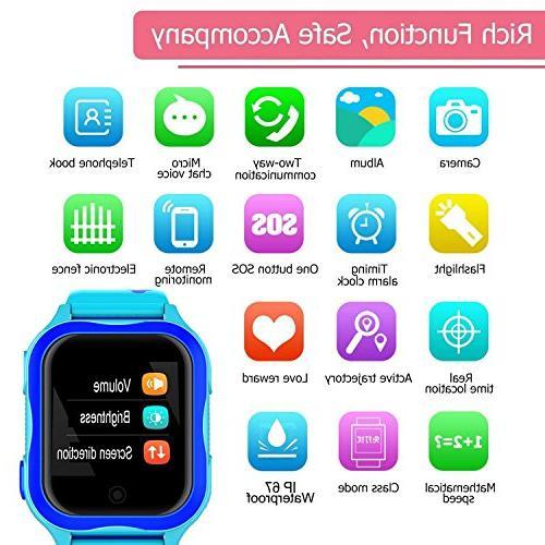 Kid Smart Watch GPS Tracker WiFi Locator Waterproof Year Girl Boy Smart Anti-Lost