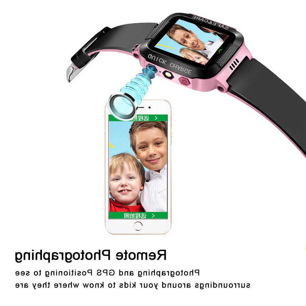 Kids Anti-lost GPS Tracker Locator Smart Watch For Android &