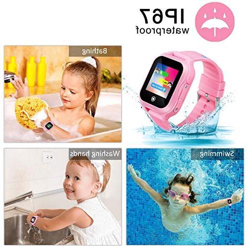 Kids Phone GPS for Boys 1.44inch Camera Waterproof SOS Phone Watch