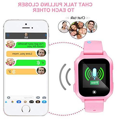 Kids GPS Tracker for 1.44inch Touch Screen Waterproof SOS Phone Watch
