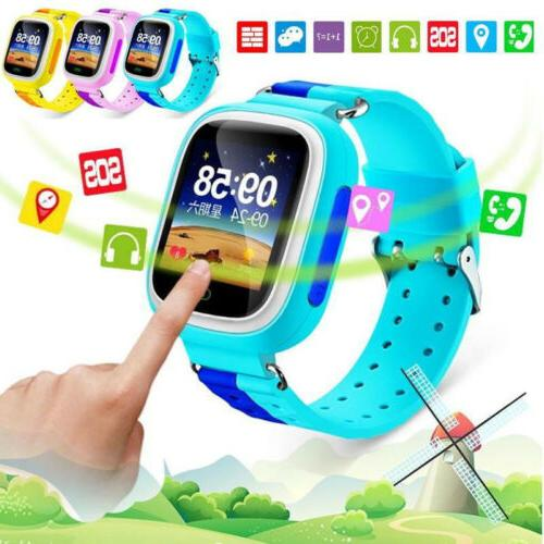 kids smart watch phone touch gps location