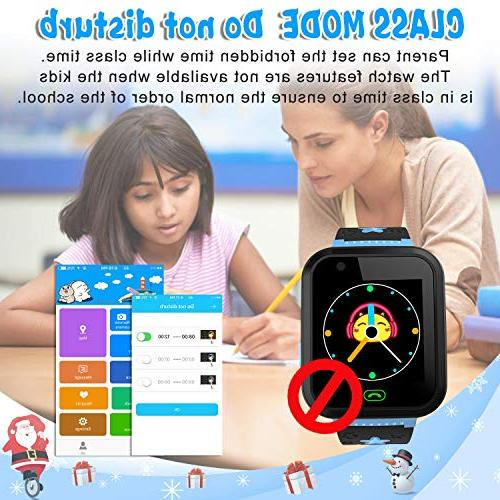 """iCooLive Phone with GPS IP68 Waterproof for Girls Boys 1.44"""" Screen SOS Call Games Alarm Wristband"""