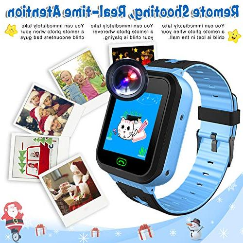 iCooLive Kids Smart Phone IP68 Girls Boys Screen 2 Call Smartwatch Camera Games Wristband
