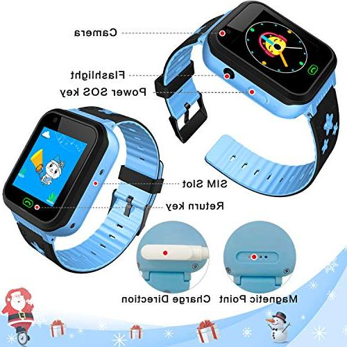 iCooLive Smart Watch Phone with Girls Screen 2 Way Call Camera Games Alarm Wristband