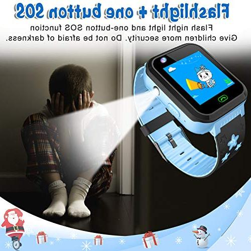 iCooLive Kids Watch IP68 for Girls Screen Call Smartwatch Camera Games Clock Wristband