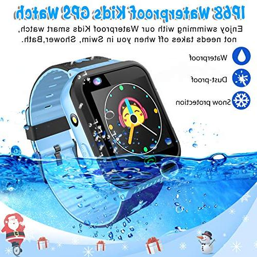 """iCooLive Kids Phone with Tracker IP68 for Girls Boys 1.44"""" Screen Way Call Smartwatch Camera Games Alarm Anti-Lost Wristband"""