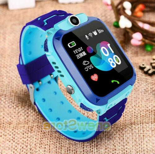 kids waterproof smart watch phone lbs gps