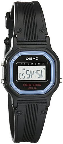 Casio Women's LA11WB-1 Sport Black Resin Band Watch