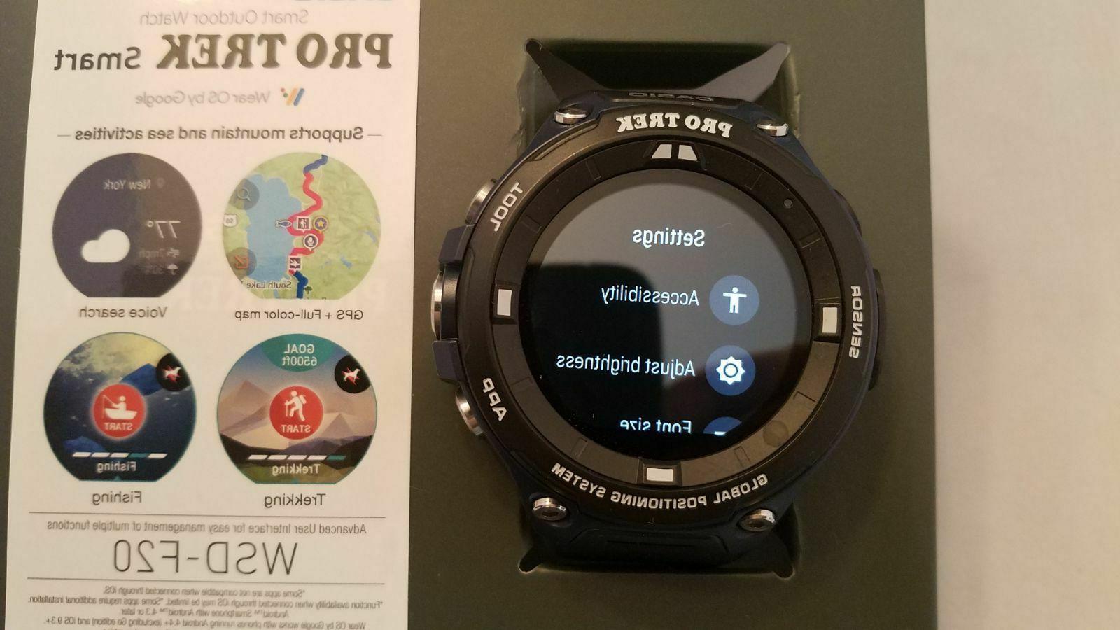 Casio Pro Trek Outdoor GPS Sports Black and Indigo WSD-F20ABU