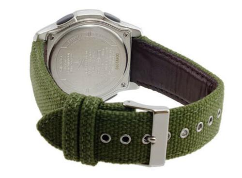 Casio Ceptor Ana-Digi Stainless Steel/Nylon Watch WVAM630B-3A