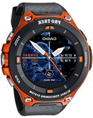 Casio Men's PRO TREK Quartz WSD-F20-RGBAU Orange
