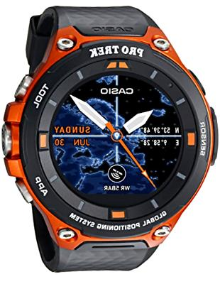 men trek quartz resin smartwatch