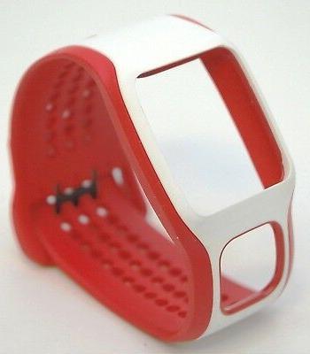 NEW TomTom Comfort Strap RED/WHITE Runner Multi-Sport GPS wa