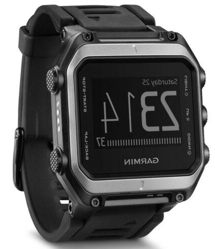 New Garmin GPS Watch Silver/Black 010-01247-00