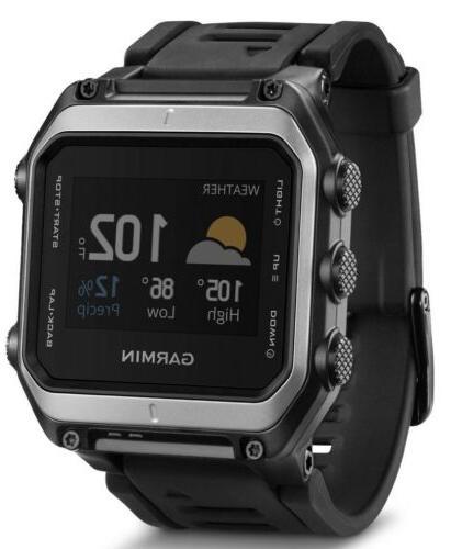 new epix gps mapping watch silver black