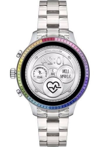 new runway access smart watch touchscreen silver